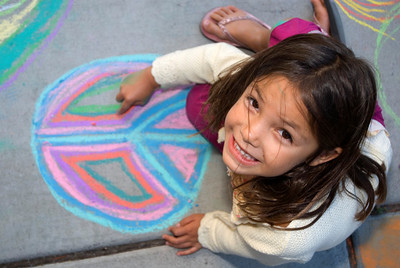 Smiling 4 peace... Cragmont Elementary School Berkeley, CA photo: Jerry Downs Photography