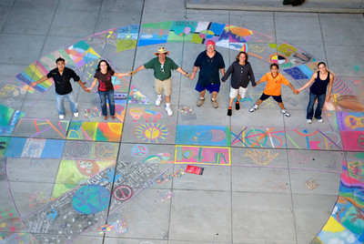 Team CHALK4PEACE Cragmont Elementary School Berkeley, California photo: Jerry Downs Photography