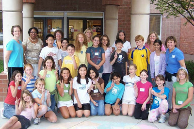 Team CHALK4PEACE Waples Mill Waples Mill Elementary School. Oakton, VA photo: Bethany Mallino
