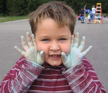 I love getting dirty... Woodlawn Elementary School, Alexandria, VA photo: Marielle Mariano