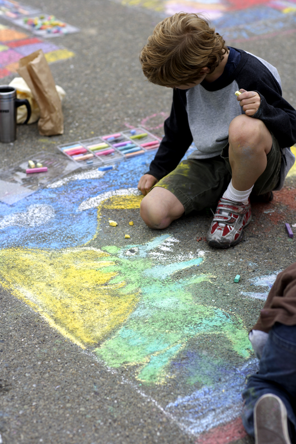 PAINTS Presents CHALK4PEACE 2007  Beach Elementary School, Piedmont, CA 9/16   Photo: copyright Mick Jones