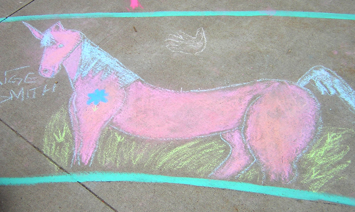 Peace Unicorn Superior Elementary School, Louisville, CO CHALK4PEACE School District Invitational Organized by Michael Wojzcuk, Arts Specialist Photo: Mike Wojzcuk