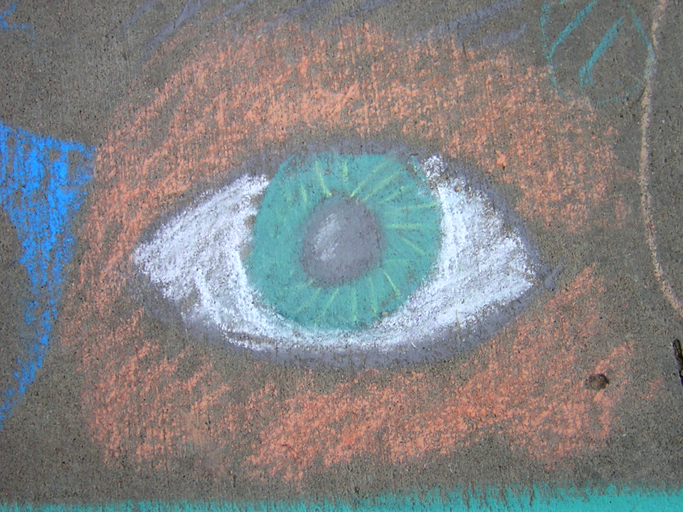 """Eye"" Superior Elementary School, Louisville, CO CHALK4PEACE School District Invitational Organized by Michael Wojzcuk, Arts Specialist Photo: Mike Wojzcuk"