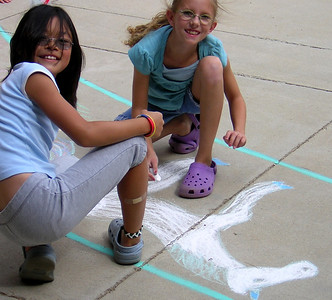 Superior Elementary School, Louisville, CO CHALK4PEACE School District Invitational Organized by Michael Wojzcuk, Arts Specialist Photo: Mike Wojzcuk This is Superior's second year.
