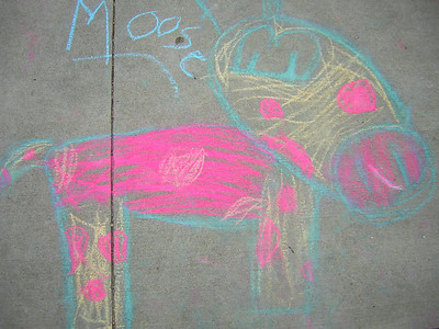 Peace Moose Superior Elementary School, Louisville, CO CHALK4PEACE School District Invitational Organized by Michael Wojzcuk, Arts Specialist Photo: Mike Wojzcuk