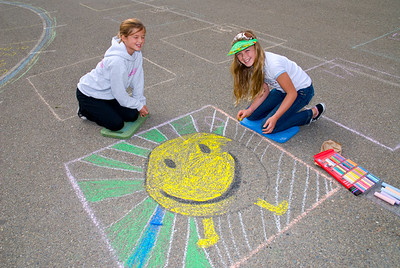 CHALK4PEACE 2008 BEACH SCHOOL Piedmont, CA  Sponsored by P.A.I.N.T.S./Beach Dads  Photo: Jerry Downs