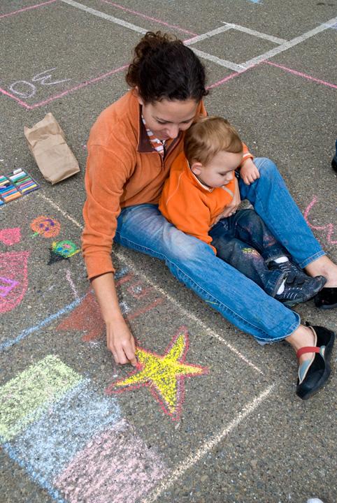 CHALK4PEACE 08 BEACH SCHOOL P.A.I.N.T.S./BEACH DAD'S PANCAKE BREAKFAST/CHALK4PEACE