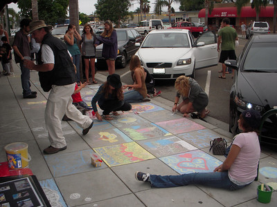 CHALK4PEACE 2008 ART N SOUL on 101, Encinitas, CA
