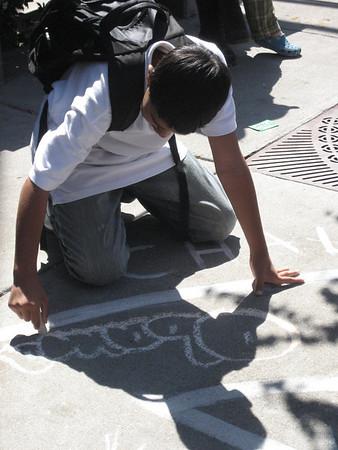 CHALK4PEACE 2008 Berkeley Public Library, Berkeley, CA