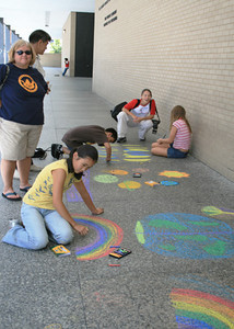 CHALK4PEACE 2008  Dr. Martin Luther King, Jr. Memorial Library, Washington, DC photo: Marielle Mariano