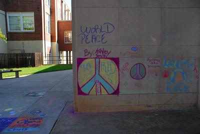 CHALK4PEACE 2008 Dunbar Middle School, Lynchburg, VA Sponsored by the Academy of Fine Arts photo: Meridith De Avila Khan