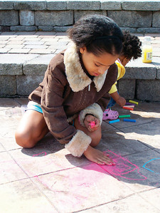 CHALK4PEACE 2008  BICENTENNIAL PARK, GENEVA, NY photo: Chapin Traugott