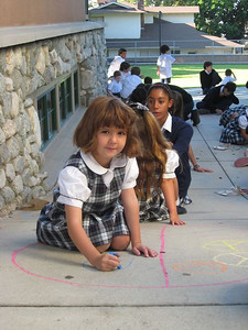 CHALK4PEACE 2008  Gooden School, Sierra Madre, CA  photo: Marianne Ryan