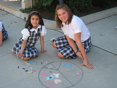 CHALK4PEACE 2008  Gooden School, Sierra Madre, CA  photo: Marianne Ryan