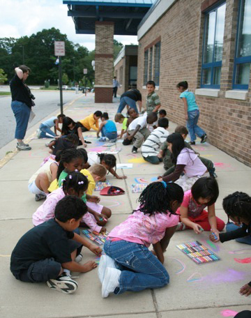 CHALK4PEACE 2008 Groveton Elementary School, Alexandria, VA