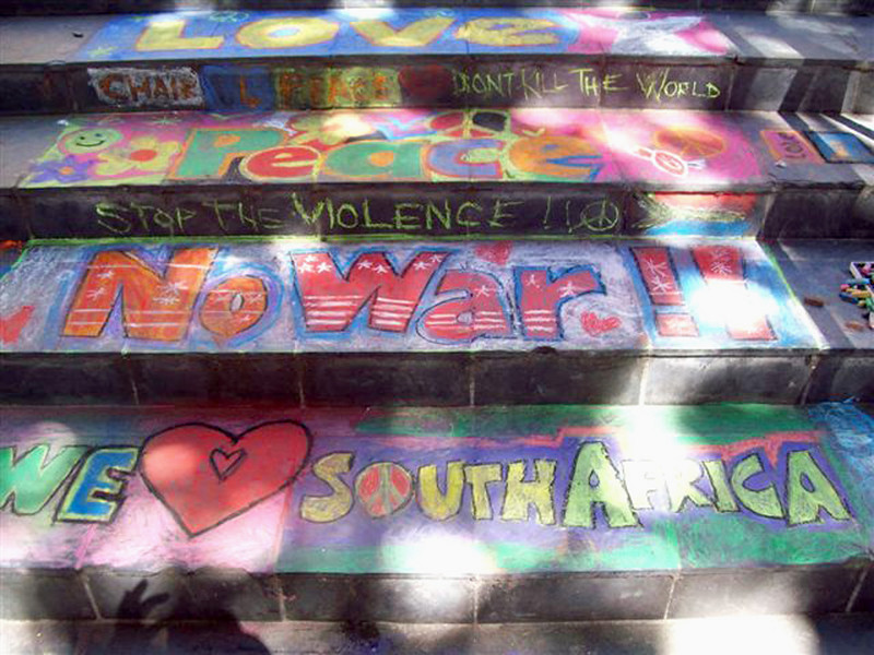 CHALK4PEACE 2008 Cape Town S. Africa 