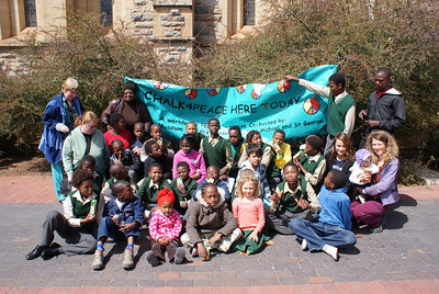 CHALK4PEACE 2008 Grahamstown, South Africa TEAM CHALK4PEACE photo: C4P Photo Gallery: http://modernarf.smugmug.com/gallery/6096704_RYNYA/1/386463765_4Ak4S#382939436_7SLdM
