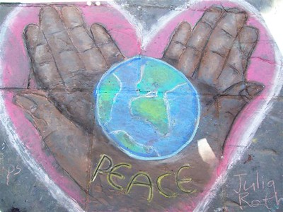 CHALK4PEACE 2008 St. George's Cathedral, Cape Town S. Africa 12/09/08 Organized by the COMMUNITY ARTS Therapy programme Photo: Angela Rackstraw, CATh Director C4P Gallery: http://www.modernarf.smugmug.com/gallery/5977917_xn8DR#373197021_eGiHQ