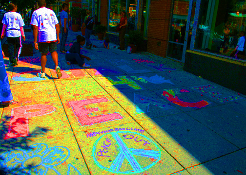 CHALK4PEACE 2008 BUSBOYS AND POETS  photo: Marielle Mariano C4P PhotoGallery: http://modernarf.smugmug.com/gallery/5977909_4muwY/1/386489200_bsadY#379785875_23cjG