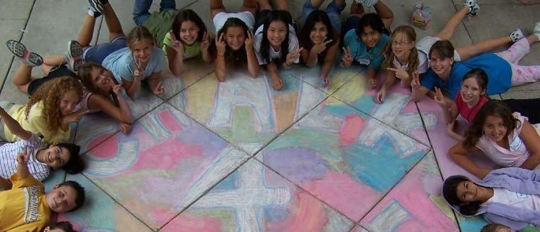 Team CHALK4PEACE Waples Mill Elementary School, Oakton, VA photo: Bethany Millano