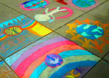 CHALK4PEACE 2008 Waples Mill Elementary School, Oakton, VA  photo: Marilyn Miyamoto C4P Photo Gallery: http://modernarf.smugmug.com/gallery/6098874_KGL5J/1/386476803_me8mV#386476803_me8mV