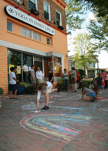 CHALK4PEACE 2008 Yoga In Daily Life, Alexandria, VASeptember 15, 2008 Event organizer: Jackie Wright Martin  photo: Marielle Mariano