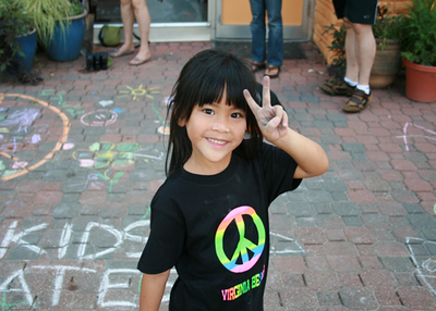 CHALK4PEACE 2008 Yoga In Daily Life, Alexandria, VA 9/15/08 Event organizer: Jackie Wright Martin photo: Marielle Mariano