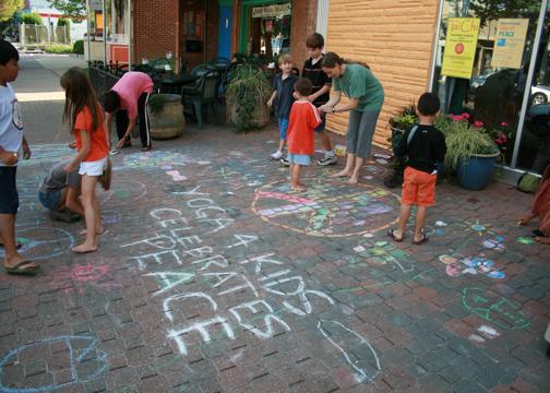 CHALK4PEACE 2008 Yoga In Daily Life, Alexandria, VA September 15, 2008 Event organizer: Jackie Wright Martin photo: Marielle Mariano