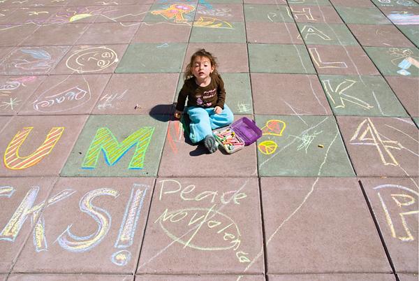 CHALK4PEACE 2008 ZEUM, San Francisco, CA 9/20/08 photo: Jerry Downs