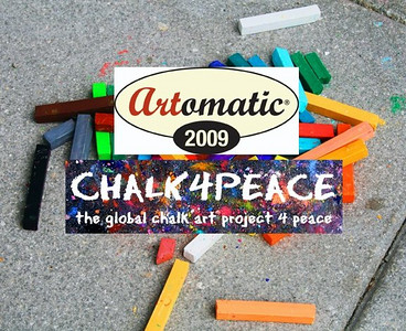 ARTOMATIC DOES CHALK4PEACE 6/28/09