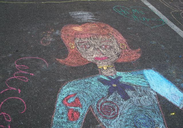 CHALK4PEACE 2008<br /> Barcroft Elementary School, Arlington, VA<br /> photo: Alissa Karton