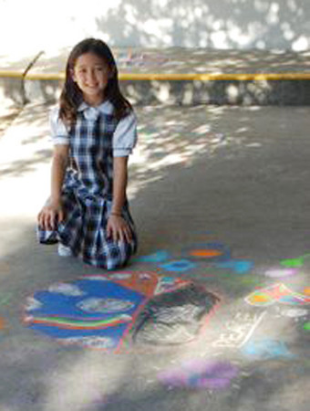 CHALK4PEACE '09 Gooden School, Sierra Madre, CA 9/24/09