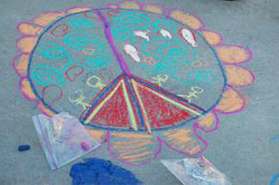 CHALK4PEACE '09 Gooden School, Sierra Madre, CA photo: Marianne Ryan