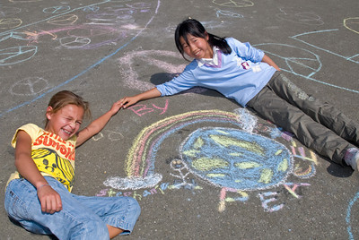 CHALK4PEACE '09  Valley View Elementary School, Richmond, CA 9/11/09 Organizer: Ms. Cheryl Cotton, Principal photo: Jerry Downs Photography