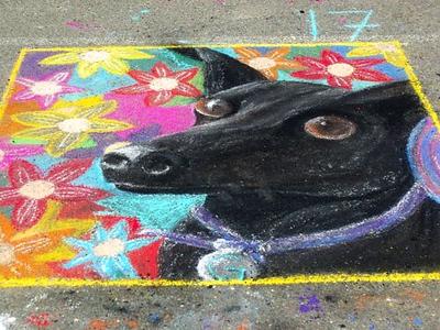 CHALK4PEACE '09 Beach Elementary School/P.A.I.N.T.S.  Annual Chalk Painting Festival, Piedmont, CA photo: Lisa Scimens  http://modernarf.smugmug.com/Art/CHALK4PEACE-2009/CHALK4PEACE-Beach-/10036249_cGEmM#687473092_tpdiY