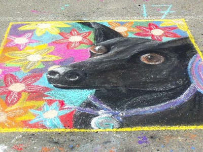 CHALK4PEACE '09 Beach Elementary School/P.A.I.N.T.S.  Annual Chalk Painting Festival, Piedmont, CA photo: Lisa Scimens