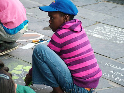CHALK4PEACE '09 St. George's  Cathedral Cape Town, S. Africa 18/09/09 Organized by the Community Arts Therapy Programme photo: