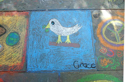 CHALK4PEACE '09 St. George's  Cathedral  Cape Town, S. Africa 18/09/09 Organized by the Community Arts Therapy Programme photo: Mandy Lomberg