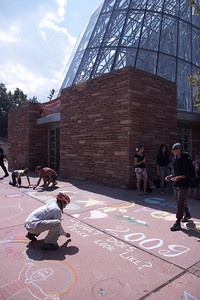 CHALK4PEACE '09 Boulder Public Library, Boulder, CO  Organizer: Carol Heepke photos: Benko Photographics