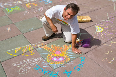 CHALK4PEACE 2008 ZEUM, San Francisco, CA photo: Jerry Downs Photography
