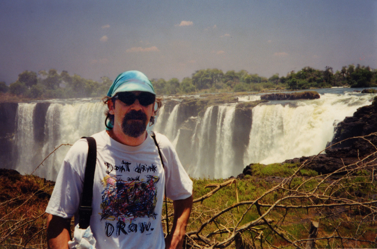 Victoria Falls, Zimbabwe 1998 This trip changed the way I see color and how I paint. Delacroix said his journey to Africa changed everything he thought about art... photo: Paula Newcomer