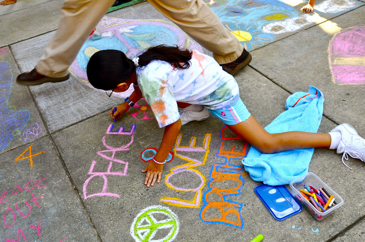 CHALK4PEACE '09 Waples Mill E.S., Oakton, VA 9/14/09