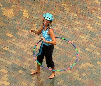 Hoopin' in the rain... CHALK4PEACE 2010 9/19/10 St. Thomas, Virgin Islands Yacht Haven Grande photo: Jeff Lange