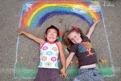 Rainbow Girls Beach E.S./P.A.I.N.T.S. CHALK4PEACE 9/19/10 photo: Jerry Downs Photography