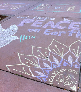 CHALK4PEACE 2010  9/26/10 Boulder Public Library, Boulder, CO Organizer: Carol Heepke Photo: Emily Ebba Reynolds