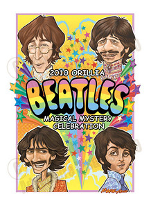 Orillia's 4th Annual  Beatles Celebration, Ontario, Canada CHALK4PEACE was a scheduled event.