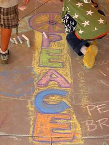 CHALK4PEACE 2010 International Day of Peace 9/21/10 Oak Grove School, Ojai, CA Organizer: Katy Council Photo: Nancy Gross