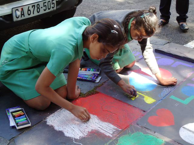 CHALK4PEACE 2010 St. George's Cathedral, Cape Town S. Africa 