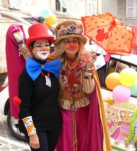 Caterina and Milano 25 at the Clown and Clown Festival  Monte San Giusto, Italy photo: Vittoria Testamanti
