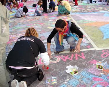 Paola!!!!!!! CHALK4PEACE 2010 Clown and Clown Festival 2 Oct. Monte San Giusto, Italy photo: Luciano Bramdimarti